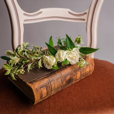 a flower and a book